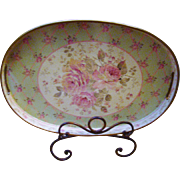 Vintage Old Fashioned Roses Serving Tray