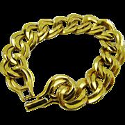 Monet Double Link Gold Tone Bracelet