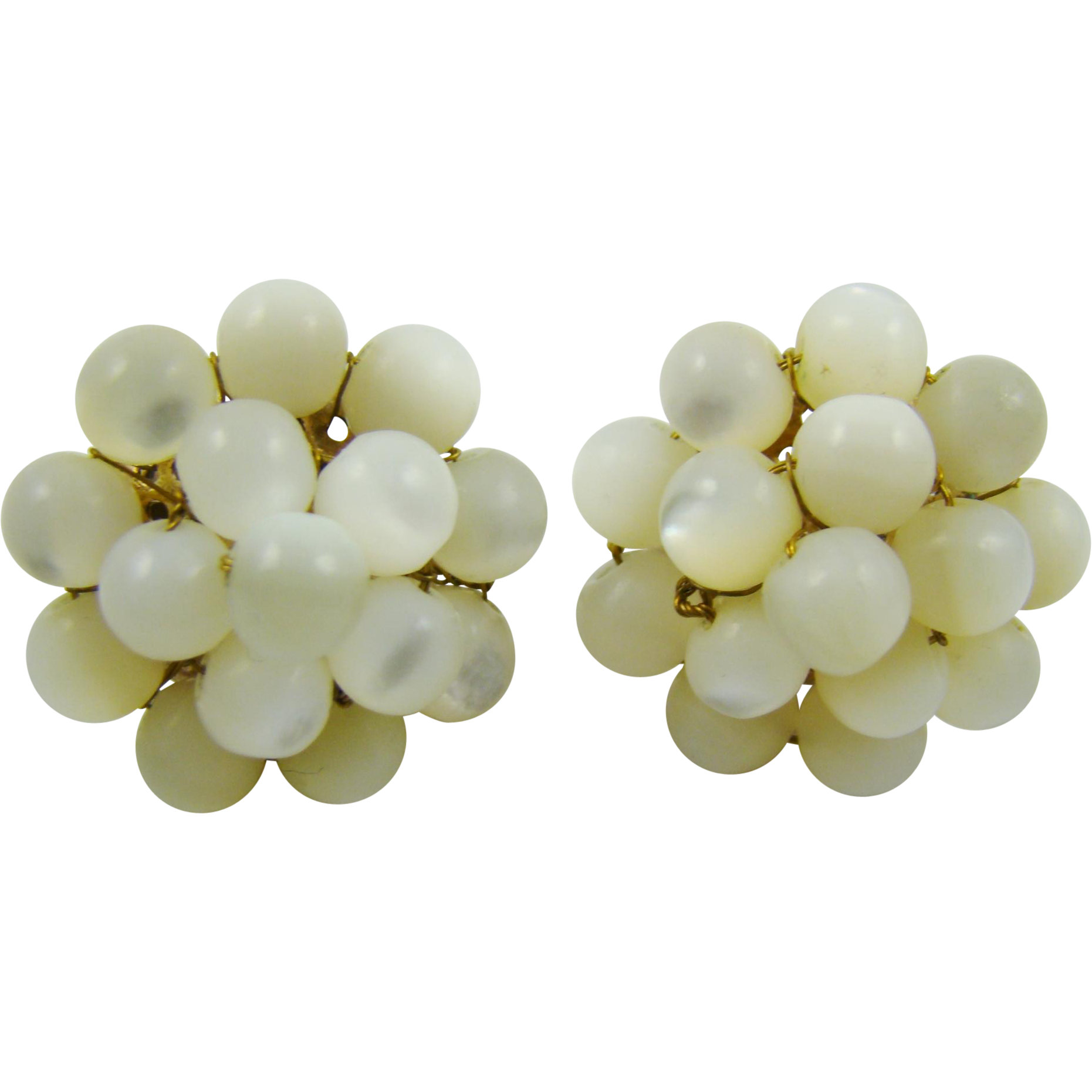 Vogue Mother of Pearl Cluster earrings