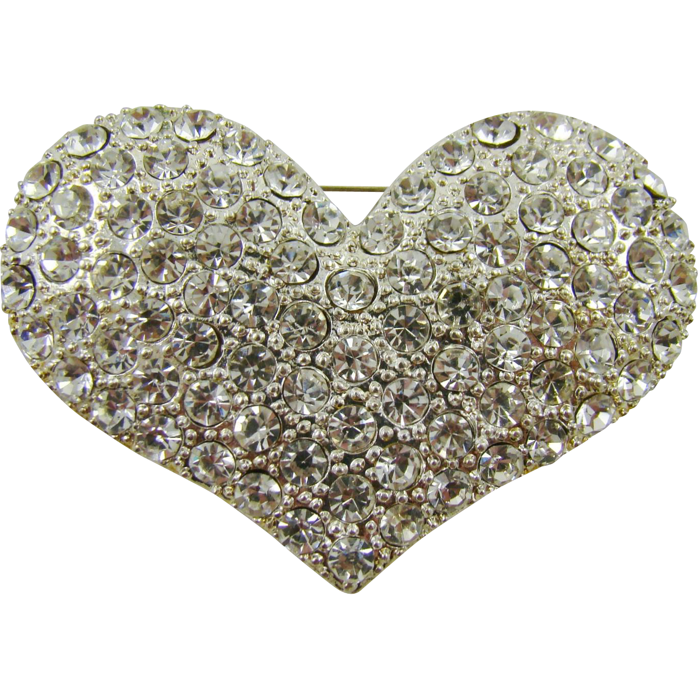 Large Heart Shaped Evening Brooch