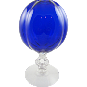 Cambridge Rare Cobalt Key Hole Ivy Bowl Vase