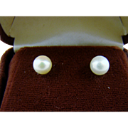 Tiny Cultured Pearl Earrings