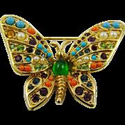 D'Orlan Butterfly Brooch