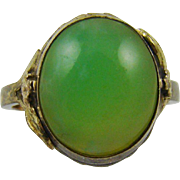 10Kt Gold Filled Jade Ring ~ Size 5 1/4