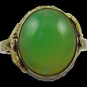 10Kt Gold Filled Jade Ring ~ Size 5 1/4