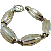 Napier Sterling Melon Shaped Bracelet