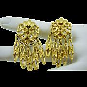 Gold Tone  Mini Chandelier Earrings