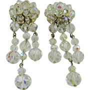 Faceted Crystal Evening/Runway Earrings