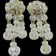 Faceted Crystal Evening/Runway Earrings