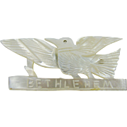 Mother  of Pearl Bethlehem Dove Brooch