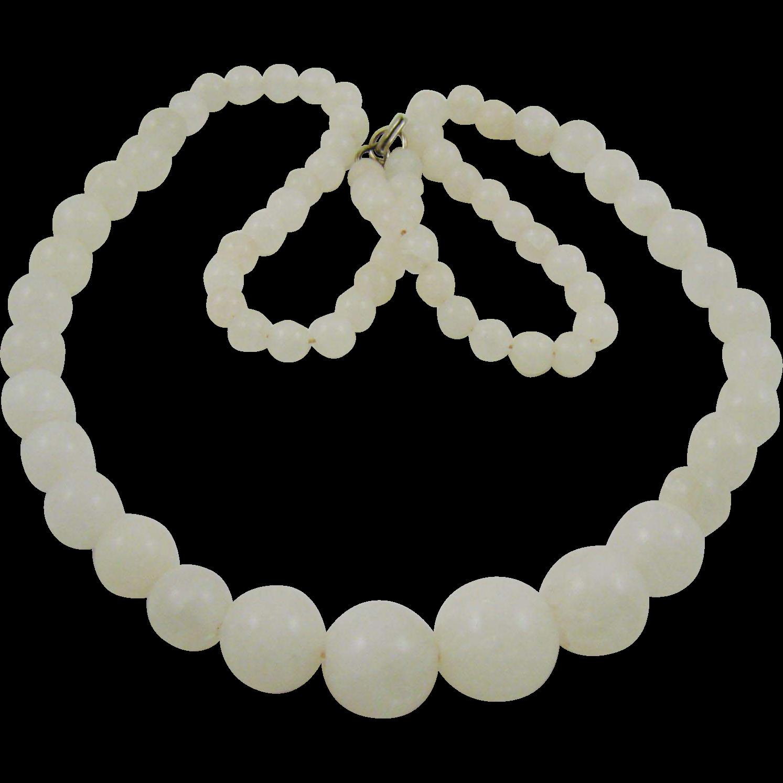 Beautiful White Quartz Necklace