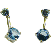 Sky Blue Gemstone Earrings