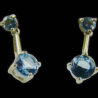 Sky Blue Gemstone Earrings