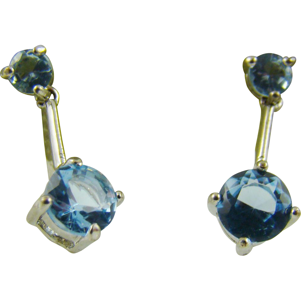 (RESERVED)  Sky Blue Gemstone Earrings