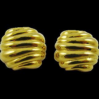 Classic Vendome Polished Gold Tone Earringsd