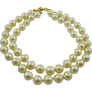 Stunning Large Runway Imitation Pearls by Monet