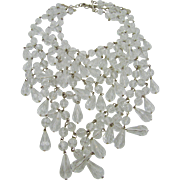 R. J. Graziano Acrylic Crystal Runway Necklace