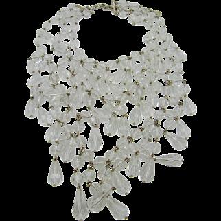 R. J. Graziano Acrylic Crystal Runway Necklace