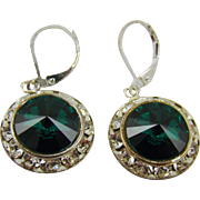 Swarovski Emerald Crystal Earrings