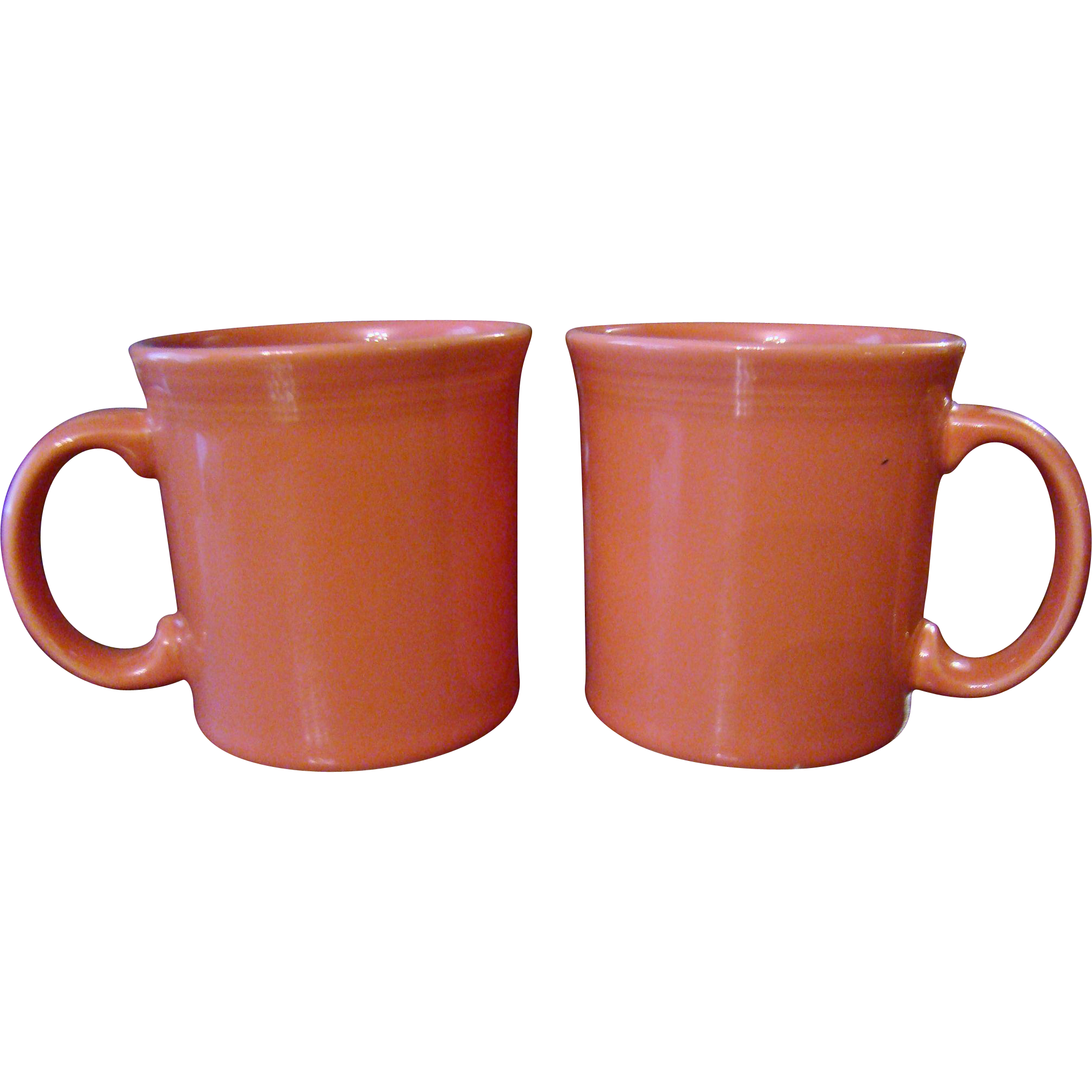 Retired Homer Laughlin Fiestaware Persimmon Mugs