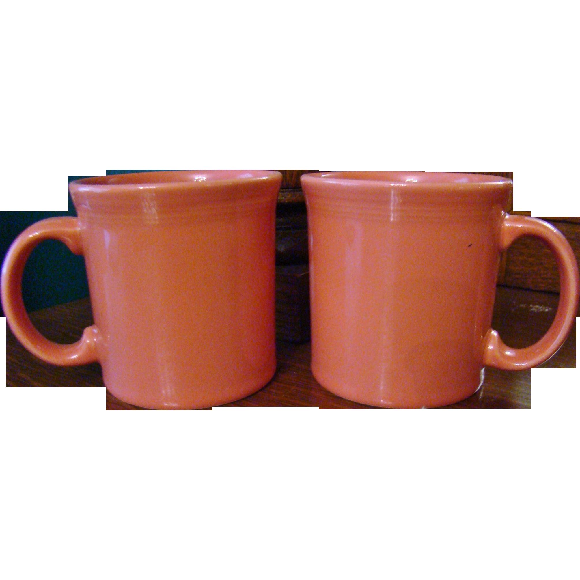 Retired Homer Laughlin Fiestaware Flamingo Mugs
