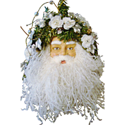 Victorian Style Hanging Santa Face