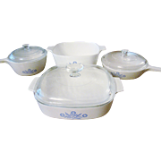 Blue Cornflower Corning Ware Set