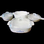 Blue Cornflower Corning Ware Set