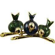 Three Little Birds on A Branch Brooch