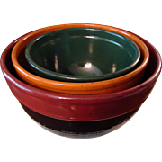 Fall Colors Banded Mixing Bowl Set