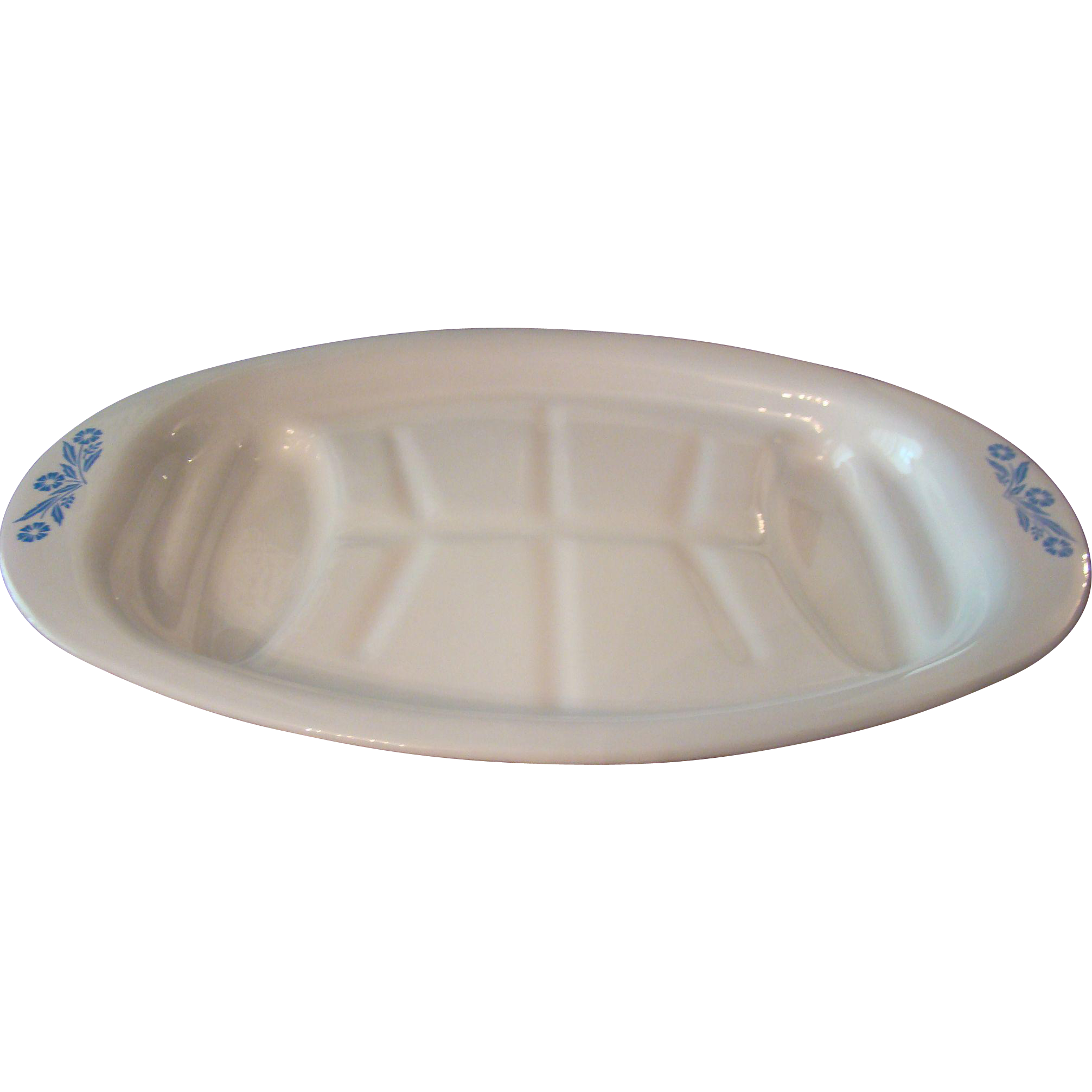 Blue Cornflower Corning Ware Meat Platter