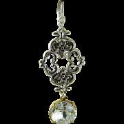 Art Nouveau Style Swarovski Earrings