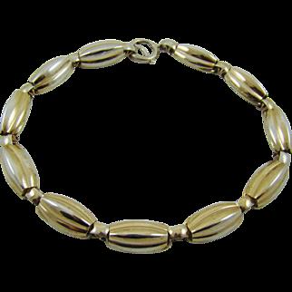 Vintage Napier Sterling Melon Choker Necklace