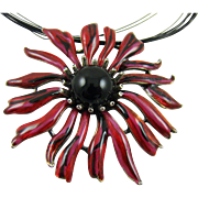 Chico's Enamel Flower Necklace