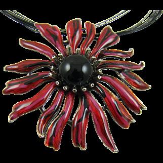Chico's Enamel Flower Necklace