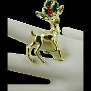 Gerry's Small Reindeer Christmas Brooch