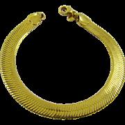 Double Herringbone Gold Tone Bracelet by Monet