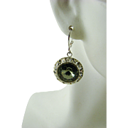 Swarovski Black Diamond Crystal Earrings
