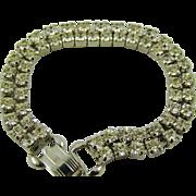 Coro Pegasus Double Strand Rhinestone Bracelet