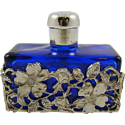 Cobalt Blue Perfume/Lotion Bottle