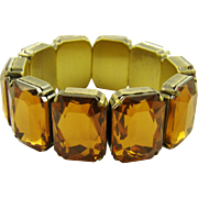 Amber Colored Glass Expansion Bracelet