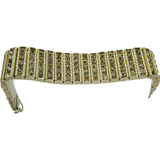 1920's Sterling Art Deco Evening Bracelet by Leach & Miller