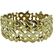 Monet Wide Basket Weave Bracelet