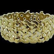 Monet Wide Basket Weave Bracelet