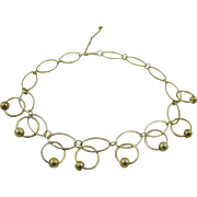 Pale Gold Tone Gypsy Necklace