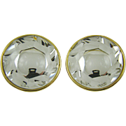 "Clear Lucite ""Headlight"" Earrings"