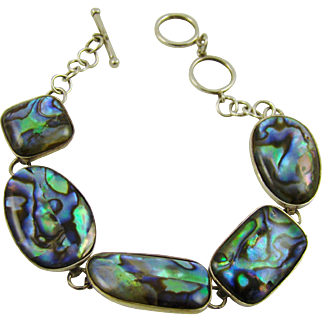 Sterling Silver and Abalone Bracelet