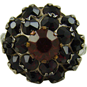 Sterling Bohemian Garnet Ring