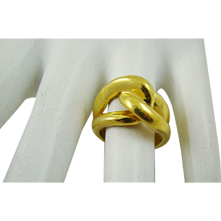 Gold Tone Pinky Ring Size 4