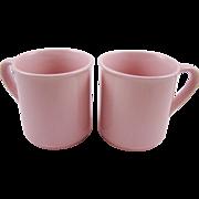 Two Soft Pink Mugs Japan